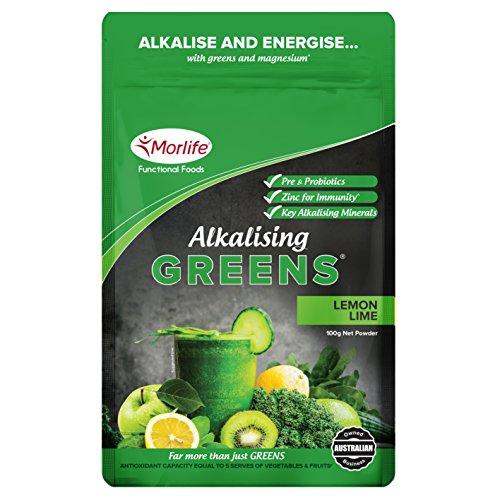 Cheap Morlife Alkalising Greens Lemon Lime 100g – 19 Super Greens, Fruits and Vegetables, Pre & Probiotics, Key Alkalising Minerals, Vegan Greens Powder, 10 Serves, Lemon Lime 100g