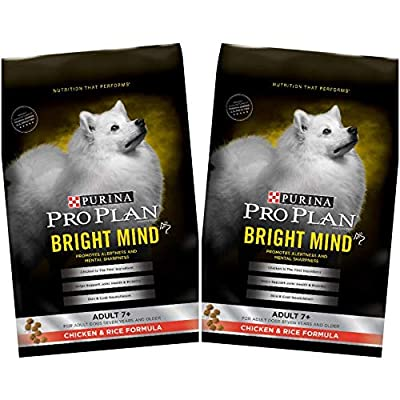2 Bags of Purina Pro Plan Bright Mind Adult 7+ Chicken & Rice Formula Dry Dog Food 5- Lbs ea