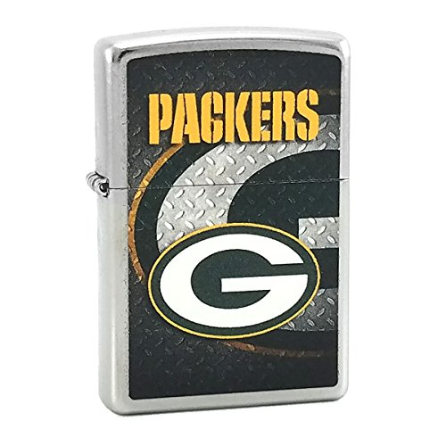 Custom Style Personalized Zippo Lighter NFL - Free Laser Engraving (Green Bay Packers) (Green Bay Packers Zippo Lighter)