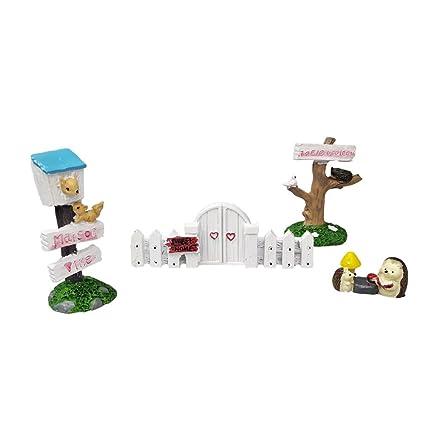 Mini Dollhouse Bonsai Resin Garden Miniature Garden Terrarium 5x Fingerpost
