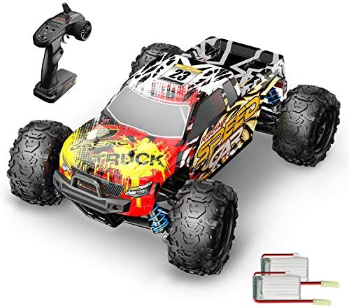 DEERC RC Cars 9310 High Speed Remote Control Car for Adults Kids 30+MPH, 1:18 Scales 4 wheel drive Off Road RC Monster Truck,Fast 2.4GHz All Terrains Toy Trucks Gifts for Boys,2 Batteries for 40Min Play