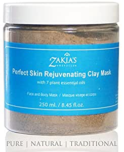 Perfect Skin Rejuvenator Mud Face Mask -Organic Natural Facial Mask and Skin Care Treatment for Men, Women and Teens - Restore your skin's natural radiance with this traditional moisturizing and Deep Cleansing treatment - Anti-aging Mud Mask Heals Dry & Oily Skin, Acne, Eczema & Psoriasis - 8.45 Oz
