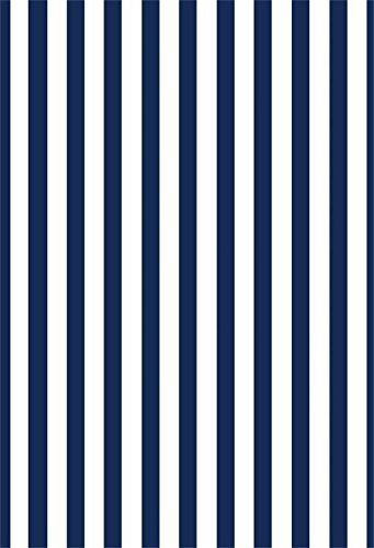 Laeacco 3x5ft Nave Blue Stripes Photography Backdrop White and Nave Blue Lines Striped Background Children Birthday Party (White Stripe Striped Wallpaper)