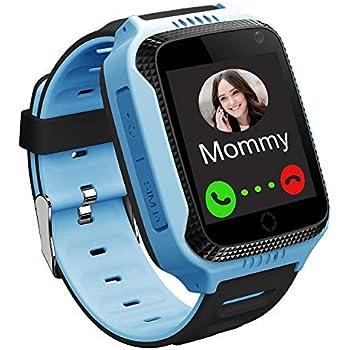 Amazon.com: PTHTECHUS Kids GPS Waterproof Smart Watch Phone ...