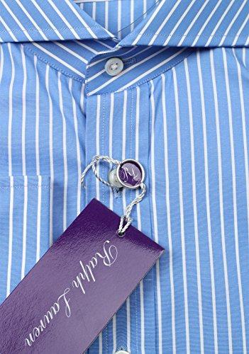 CL - Ralph Lauren Purple Label Blue Striped Shirt Size 42 / 16.5 U.S.