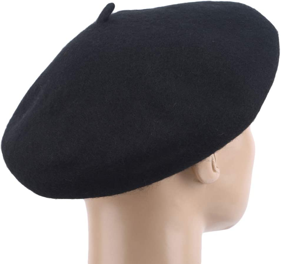 Yeucan Woolen French Style Classic Berets Artist Solid Color Beret