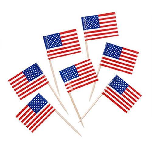 Mini American Flag Toothpicks Cupcakes product image