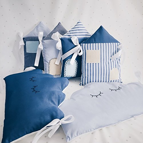 Baby Boy Crib Nursery Bedding with clouds by Tutti Handmade Studio