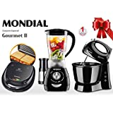 Conjunto Especial Gourmet II 127V, Mondial KT-56, Preto, Mondial, KT-56 - Conjunto Especia