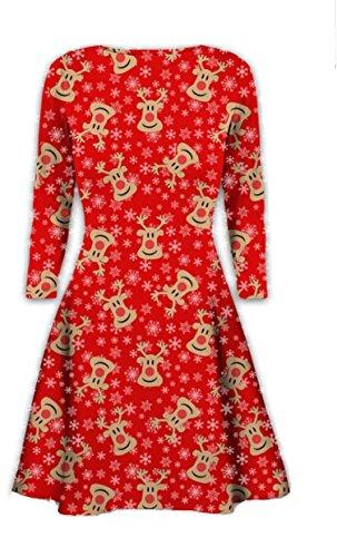 9dfcb64695e66 Womens Christmas Dresses Ladies Long Sleeve Olaf Santa Novelty Stocking  Xmas Swing Plus Size - Buy Online in UAE.