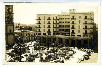 Hotel Diligencias RPPC Veracruz Mexico 1940's Beinvenido Senor Presidente