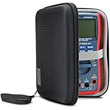 Hard Digital Multimeter Carrying Case by USA Gear - Voltage Tester Travel Case , Weather & Scratch Resistant , Wrist Strap , Storage for Leads & Probes - Fits Fluke 87v , AstroAI WH5000A & More