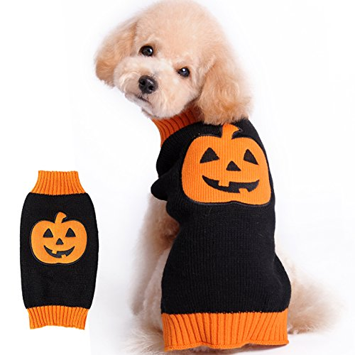 HAPEE Halloween Dog Sweater ,Pet Cat Clothes Pumpkin 0103
