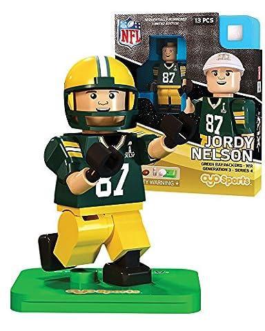 Jordy Nelson NFL OYO Green Bay Packers S.B. XLV L.E. of 2,015 Generation 3 Super Bowl 50 Series G3 Mini (Packer Jordy)