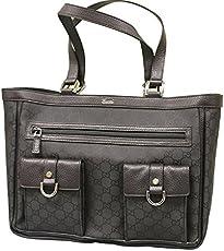 e3df29ece597 Gucci Abbey Tote Handbag Purse Black Nylon Bag 268639 1001
