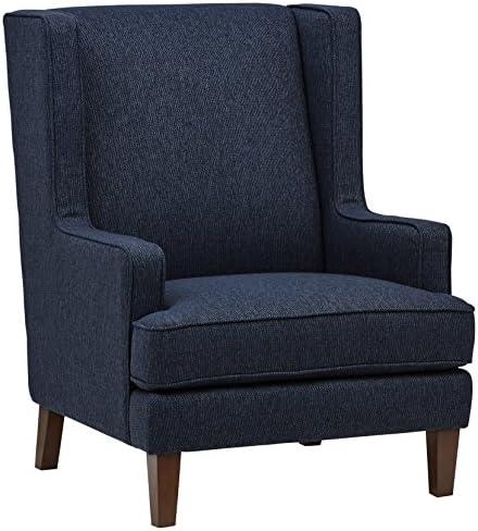 Amazon Brand Stone Beam Highland Modern Living Room Wingback Accent Chair, 32 W, Denim