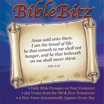 BibleBitz - 365 Daily Bible Verses - Designed to Load onto Your Computer and Deliver a Different Bible Verse Every Day on your Computer Screen (Bible Computer Software)
