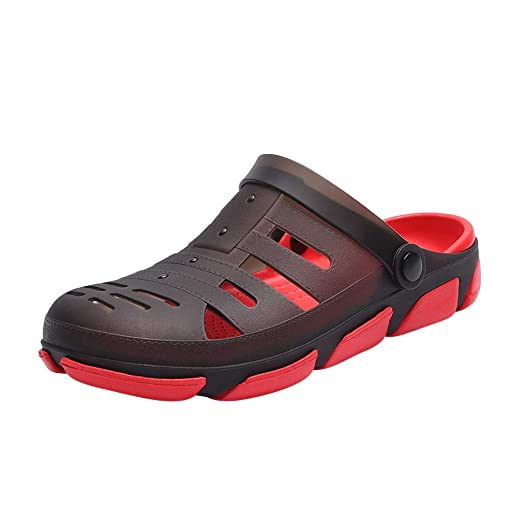c54e991726f6 Sumen Mens Garden Clogs Anti-Slip Beach Shower Sandals Slip on ...