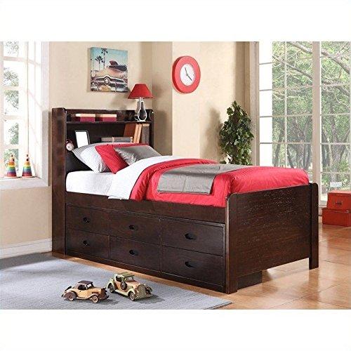 Boraam 98122 Captain's Bed, Twin, Cappuccino