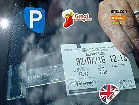 Tikettak - Support pour permis, ticket, note pour pare-brise de voiture, van et caravane (é viter les amendes de stationnement) Bubblefish Limited