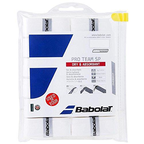 Babolat 2018 Pro Team SP Overgrip 12 - Tennis, Badminton, Racquetball - Highly Adsorbant by Babolat