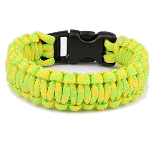 550 Parachute Cord Survival Compiled Bracelet Plastic Buckle Wristband