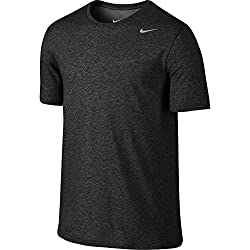 Nike Men's Dri-fit Cotton 2.0 Tee, Black Heatherblack Heathermatte Silver, Medium