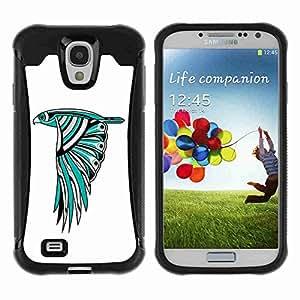 A-type Arte & diseño Anti-Slip Shockproof TPU Fundas Cover Cubre Case para Samsung Galaxy S4 IV (I9500 / I9505 / I9505G) / SGH-i337 ( Beautiful Owl Colorful Illustration )