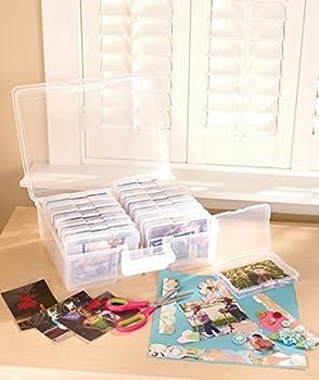 Scrapbooking 1,600 Photo Organizer Case - 16 Inner Cases - Snap Closures 0