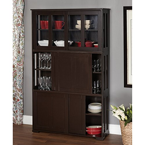 target marketing systems pacific stackable cabinet with glass door cool kitchen gifts. Black Bedroom Furniture Sets. Home Design Ideas