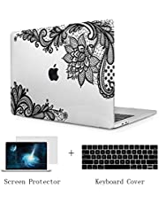 TwoL Case for MacBook Air 13 A1932, Ultra Slim Hard Shell Case and Keyboard Cover Screen Protector for New MacBook Air 13 2018 with Retina Display Fashion Lace