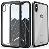 Zizo ATOM Series compatible with iPhone X Case Military Grade Drop Tested with Tempered Glass Screen Protector BLACK