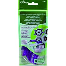 Clover 3166 Knitting & Crochet Jumbo Wonder Clips Purple 12 per package