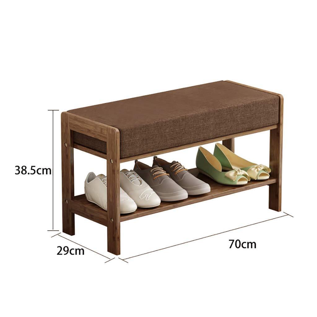 Shoe Rack Storage Shelves Holder Simple Modern Home Shoe Bench Solid Wood Shoe Rack into The Door Long Bench Rest Bench, Size: 38.5 29 50/60/70cm. (Size : 70 29 38.5cm) (Size : 702938.5cm)