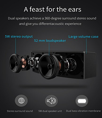 Betron D51 Bluetooth Speaker Wireless System for Iphone, Ipod, Ipad, Smartphones, Mp3 Players, Computers and Tablets