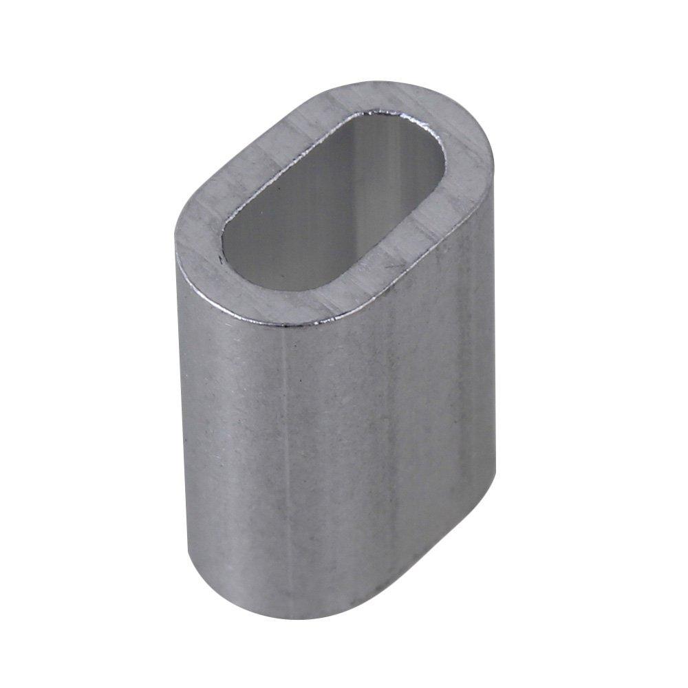 cnbtr 3 mm oval Form Remasuri Aluminium Crimpen Schlaufe Drahtseil ...