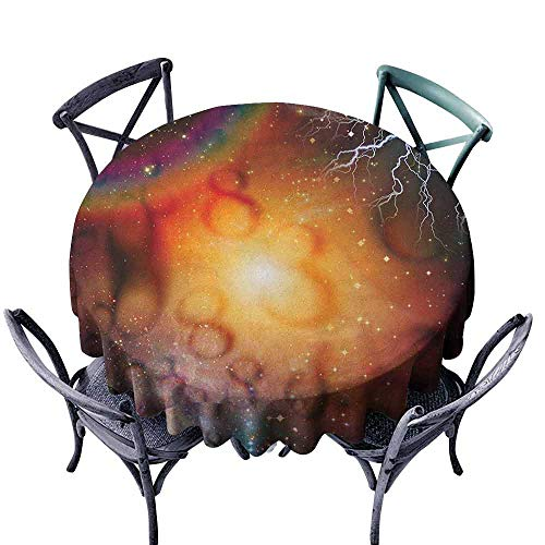 duommhome Astrology Wrinkle Resistant Tablecloth Abstract Astral Spiritual Illlustration of The Universe Electricity in Infinity Great for Buffet Table D67 Multicolor (Astral Willow)