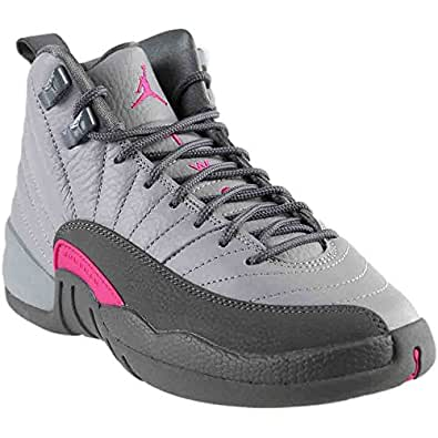 e424749760e17 Image Unavailable. Image not available for. Color  Jordan Nike Air 12 Retro  GG WolfGrey VividPink ...