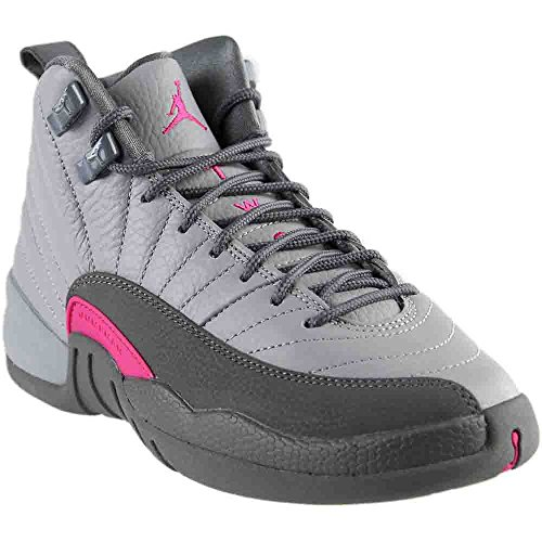 Nike Air Jordan 12 Retro GG Grey/Pink Big Girls Basketball Shoes 510815-029 (4)