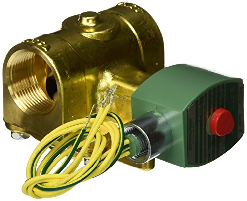 ASCO 8220G027 -120/60,110/50 Brass Body Hot Water and Steam Pilot Operated Diaphragm and Piston Valve, 125 psi Maximum Steam Operating Pressure, 1-1/4'' Pipe Size, 2-Way Normally Closed, EPDM Sealing, by Asco