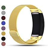(US) Samsung Gear Fit2/Gear Fit 2 PRO Smart Watch Replacement Band,Feskio Magnet Lock Stainless Steel Milanese Loop Metal Replacement Watchband Bracelet Wrist Strap for Gear Fit2 SM-R360 and Gear Fit 2 PRO