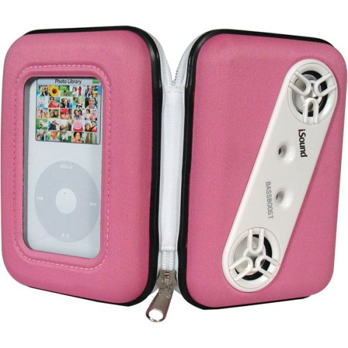 DreamGear i.Sound Audio Vault Speaker and Case for iPod and MP3 Players (Pink)