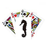 Black Hippocampus Marine Life Pattern Poker Playing Card Tabletop Board Game Gift