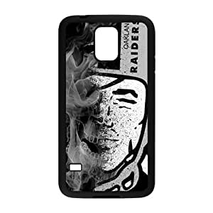 Abstract Oakland Raiders Design Plastic Case Cover For Samsung Galaxy S5 by Maris's Diary