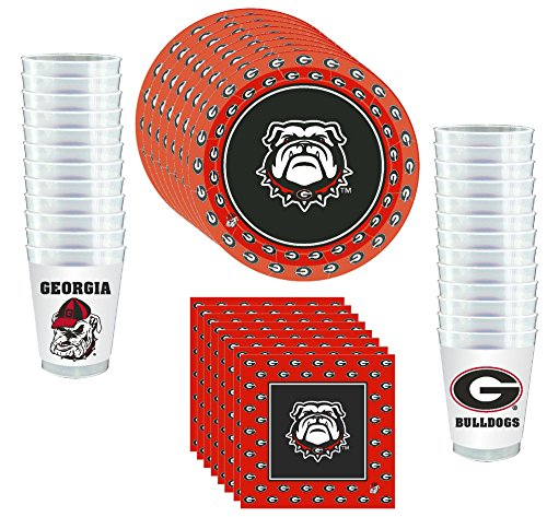 Westrick Georgia Bulldogs Party Supplies 81 Pieces -