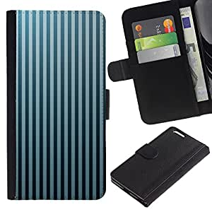 "Be-Star la tarjeta de CršŠdito Slots PU Funda de cuero Monedero caso cubierta de piel Para Apple (5.5 inches!!!) iPhone 6+ Plus / 6S+ Plus ( Stripes Wallpaper Gris Azul Negro aleatoria"" )"