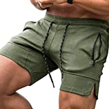 (US) COOFANDY Men's Gym Workout Shorts Weightlifting Squatting Short Fitted Training Bodybuilding Jogger with Pockets (XX-Large, XXXXXX) Army Green