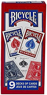 Bicycle Playing Card Decks,Standard Face - 9 Packs
