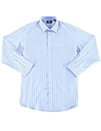 Men's Classic/Regular Fit French Blue Lilac Stripe Dress...