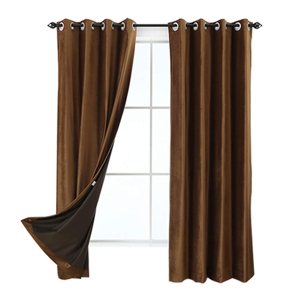 JYXIUBS Insulated Blackout Curtains with Grommet for BedroomSet of 2 Panels (52″